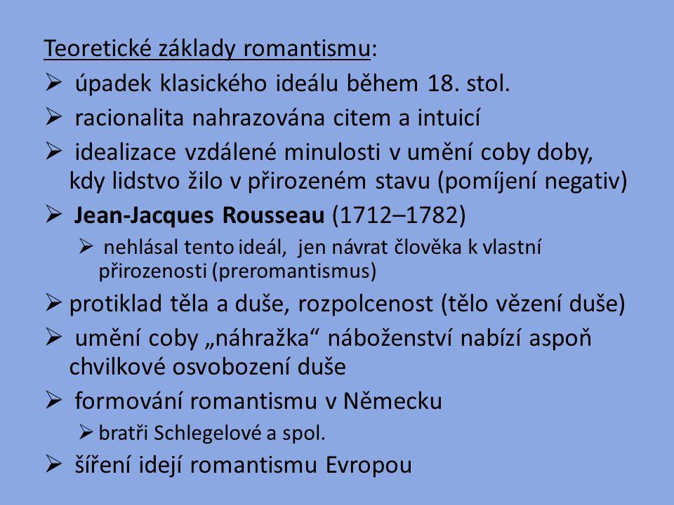 Teoretické základy romantismu:
