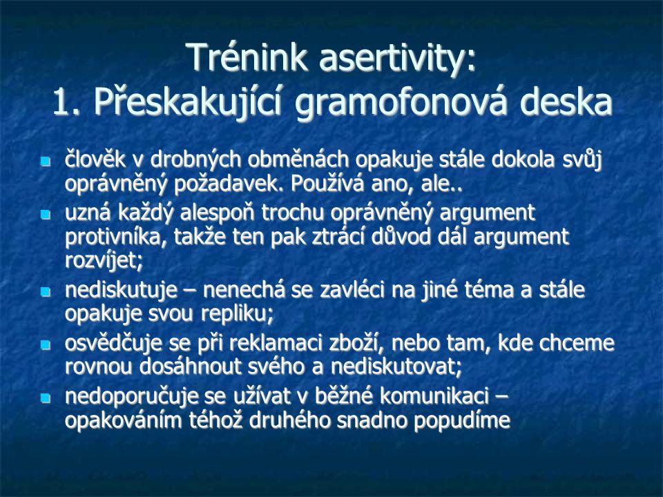 Trénink asertivity: 1. Přeskakující gramofonová deska
