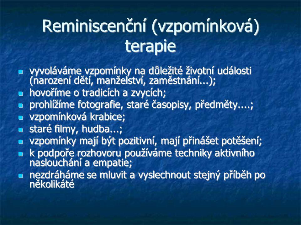 Reminiscenční (vzpomínková) terapie
