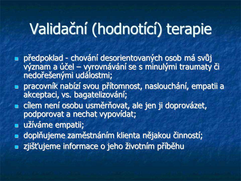 Validační (hodnotící) terapie