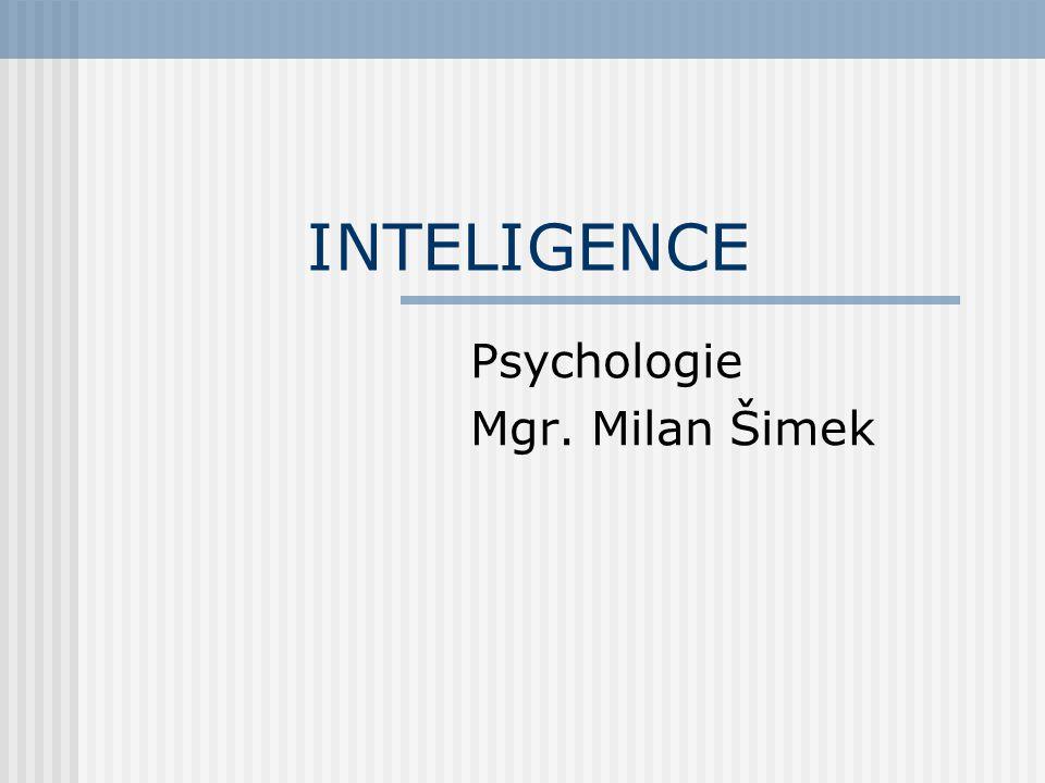 Psychologie Mgr. Milan Šimek