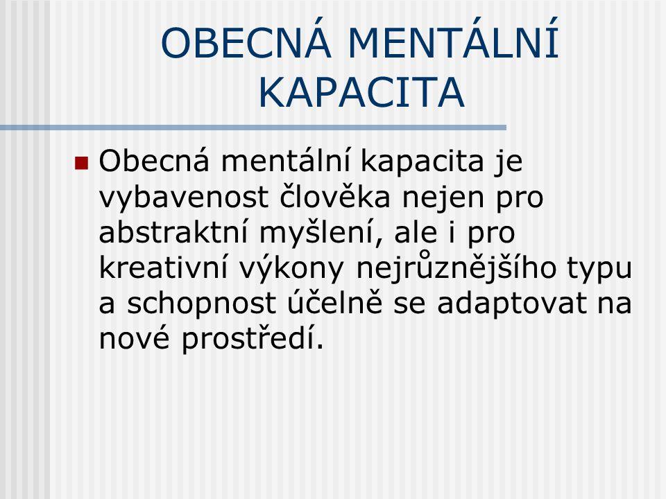 OBECNÁ MENTÁLNÍ KAPACITA