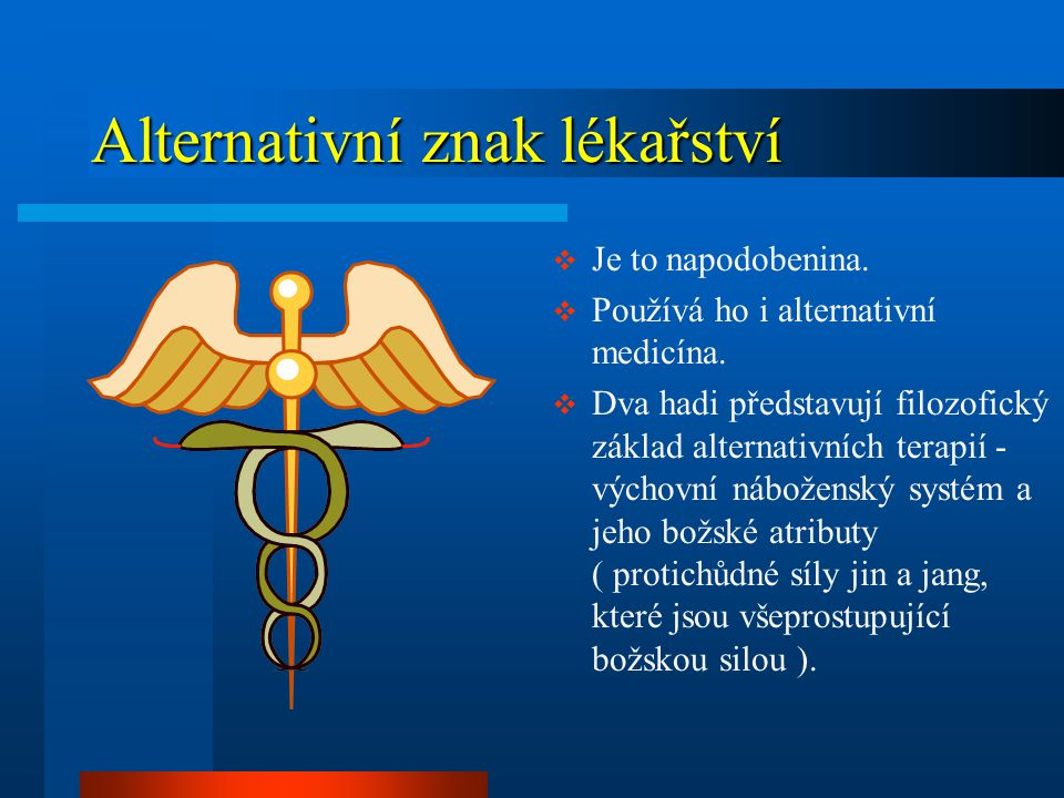 Alternativní znak lékařství