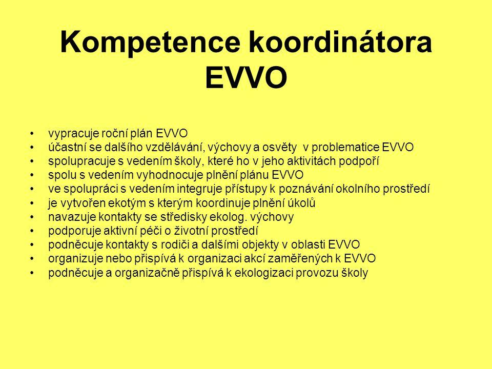 Kompetence koordinátora EVVO