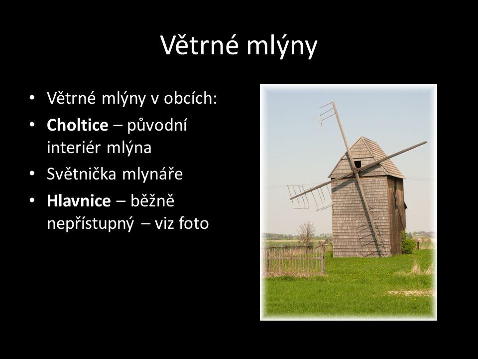 Větrné mlýny Větrné mlýny v obcích: Choltice – původní interiér mlýna