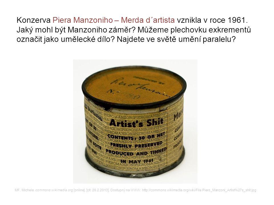 Konzerva Piera Manzoniho – Merda d´artista vznikla v roce 1961