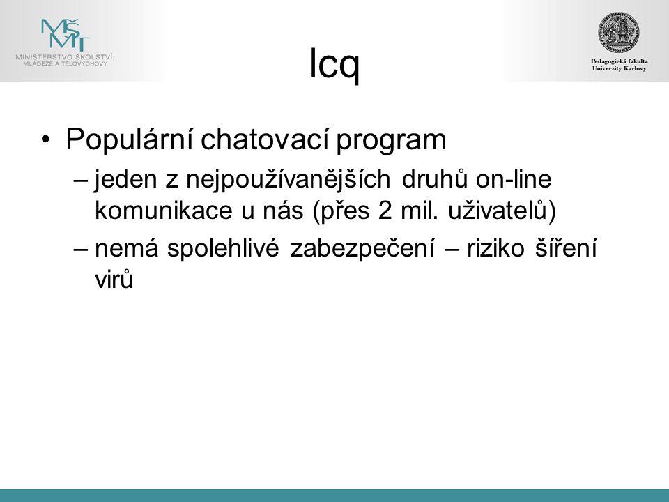Icq Populární chatovací program