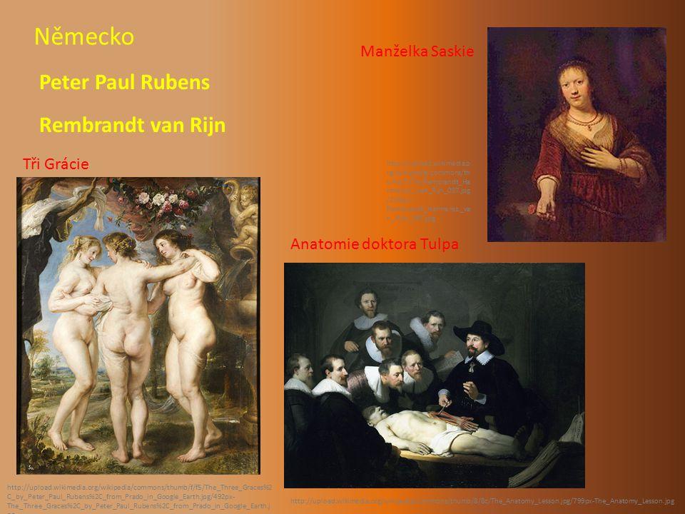 Německo Peter Paul Rubens Rembrandt van Rijn Manželka Saskie