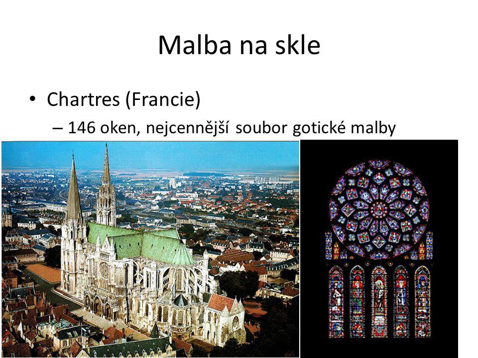 Malba na skle Chartres (Francie)
