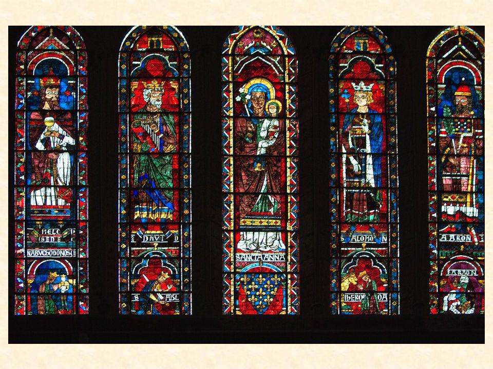 Okna v Chartres