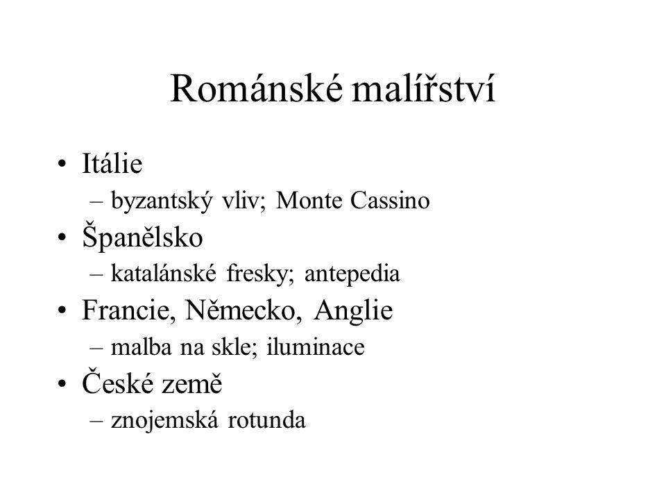 Románské malířství Itálie Španělsko Francie, Německo, Anglie