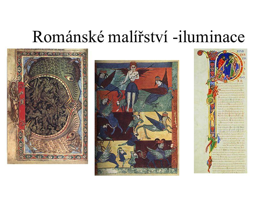 Románské malířství -iluminace