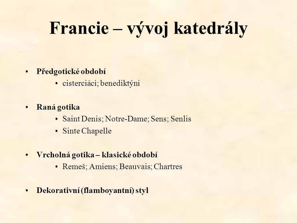 Francie – vývoj katedrály