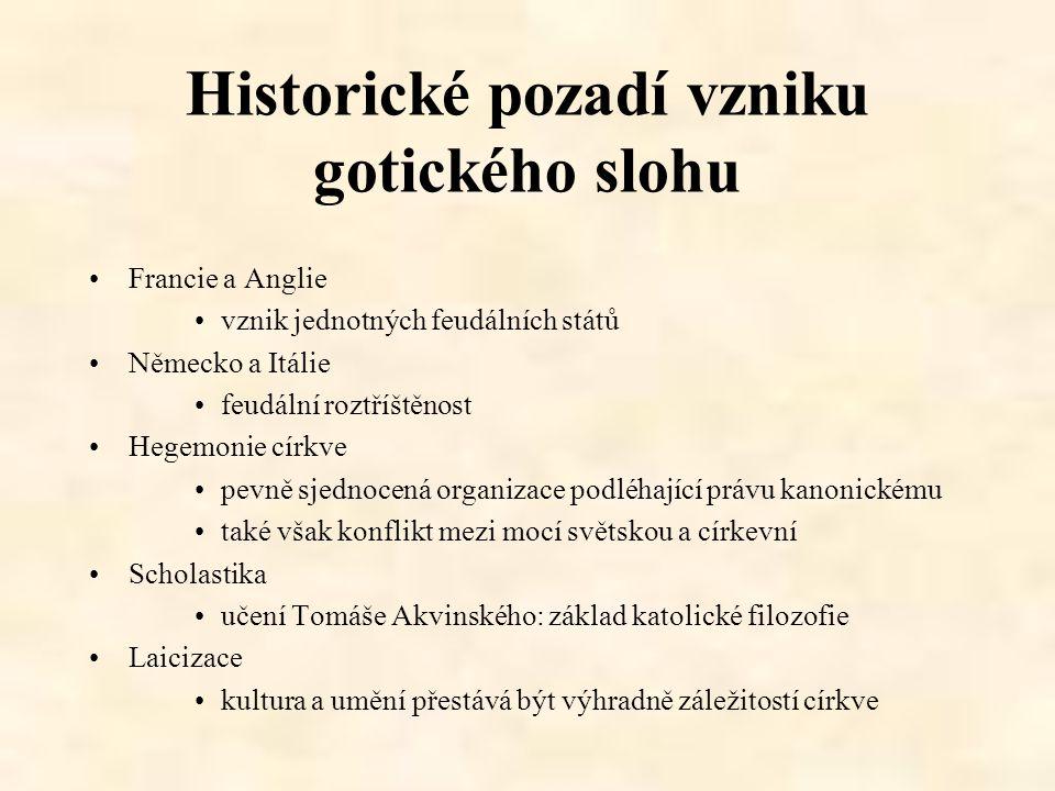 Historické pozadí vzniku gotického slohu