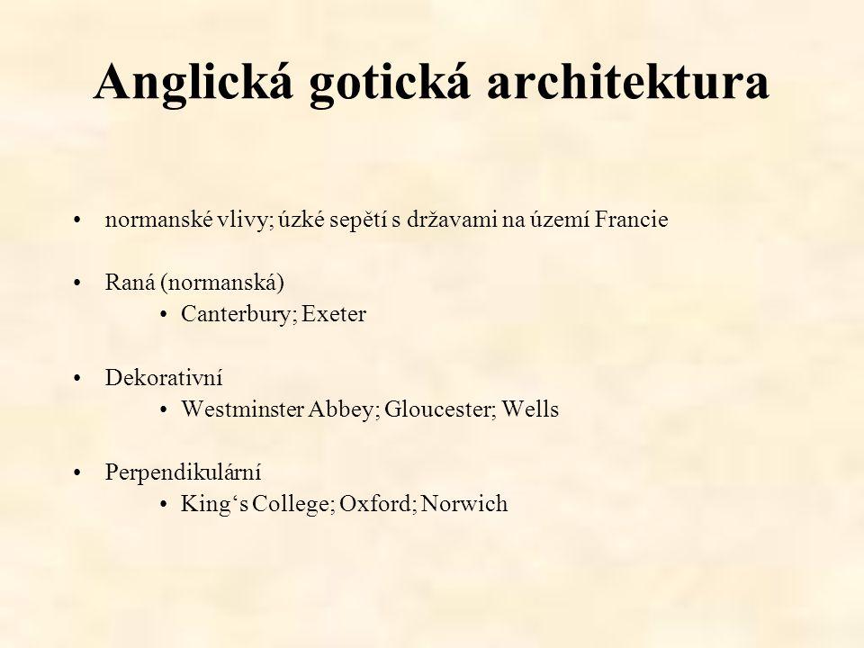 Anglická gotická architektura