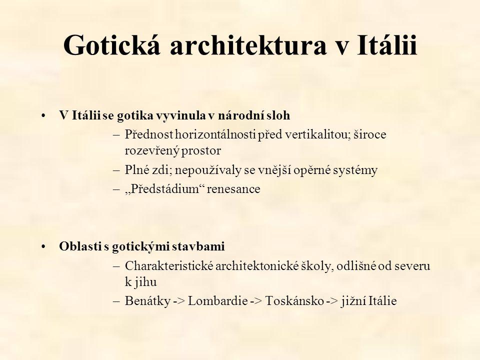 Gotická architektura v Itálii