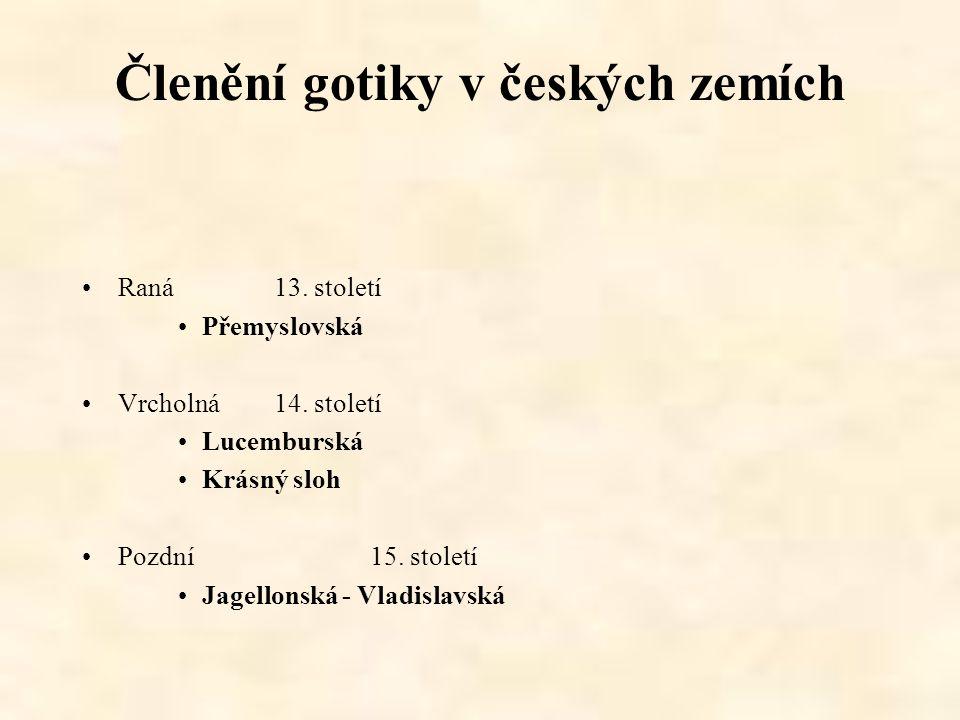 Členění gotiky v českých zemích