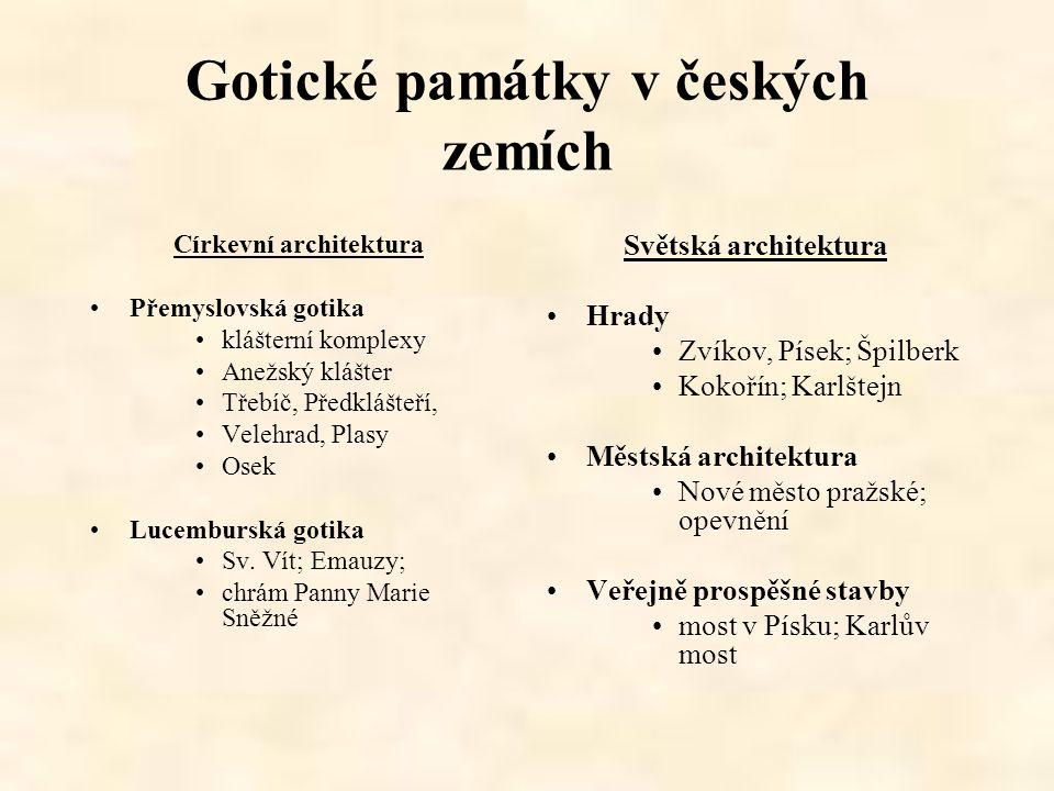 Gotické památky v českých zemích
