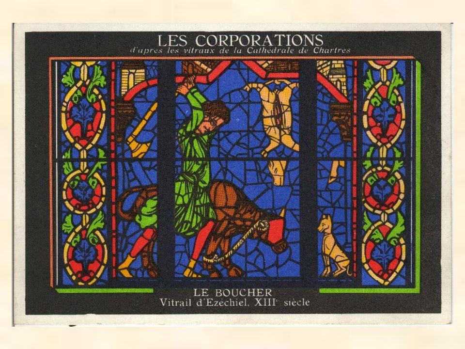 Chartres vitráž Ezechiel, 13. století