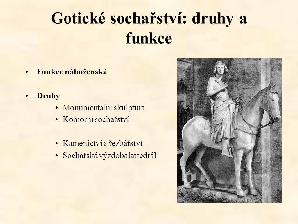 Gotické sochařství: druhy a funkce