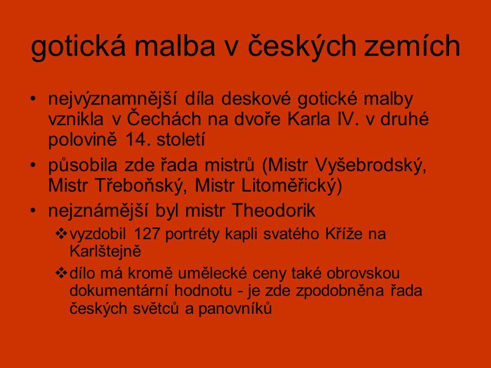 gotická malba v českých zemích