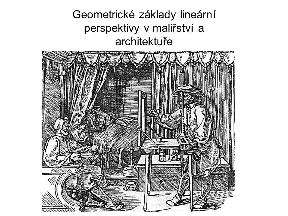Geometrické základy lineární perspektivy v malířství a architektuře