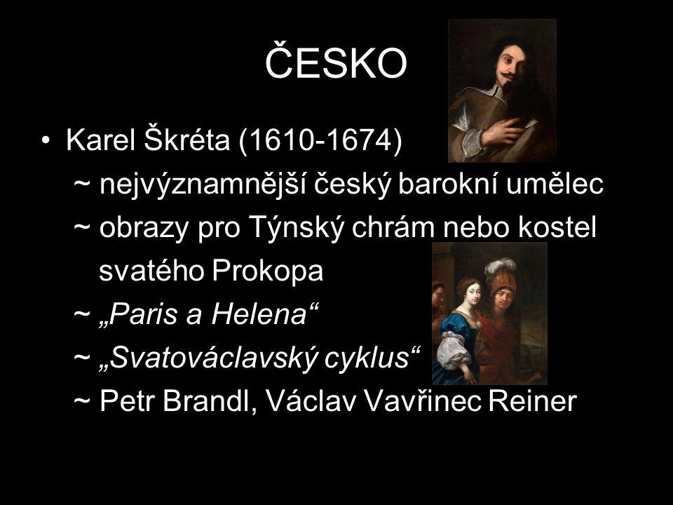 ČESKO Karel Škréta (1610-1674) ~ nejvýznamnější český barokní umělec