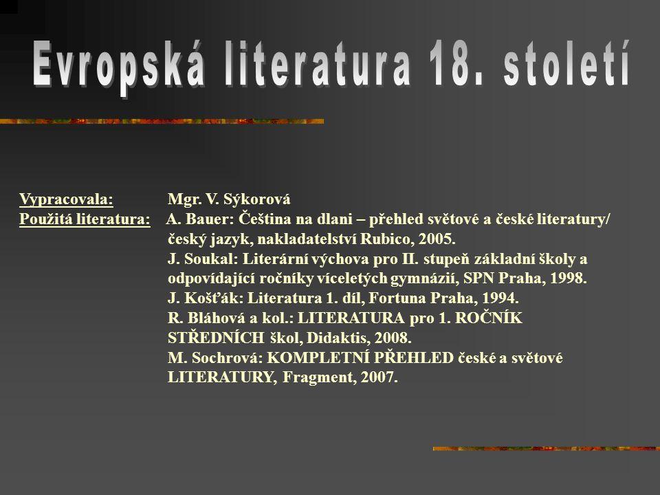 Evropská literatura 18. století