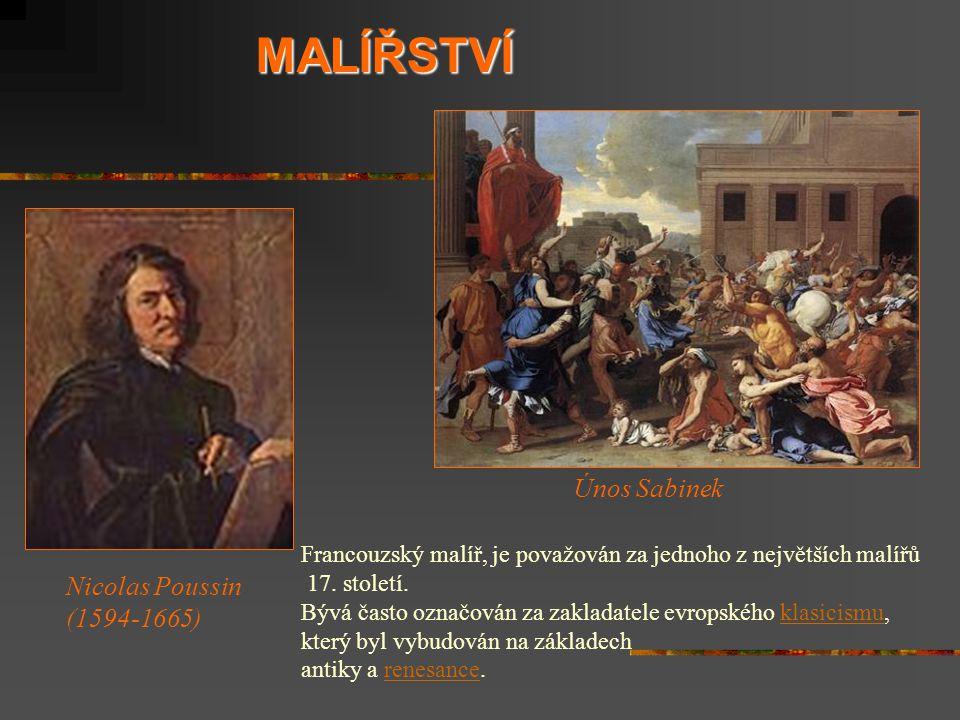 MALÍŘSTVÍ Únos Sabinek Nicolas Poussin (1594-1665)