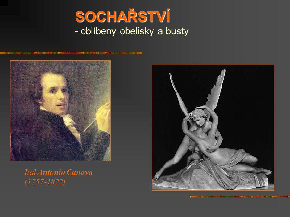 SOCHAŘSTVÍ - oblíbeny obelisky a busty