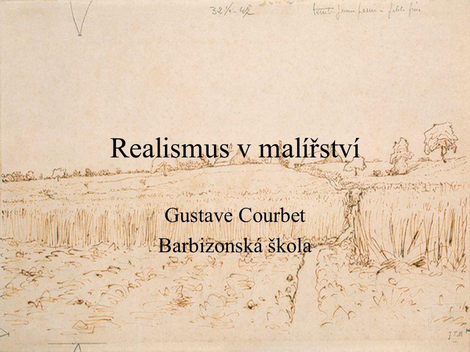 Gustave Courbet Barbizonská škola