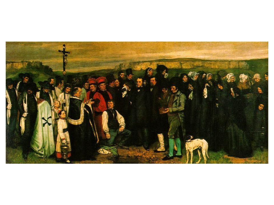Pohřeb v Ornans 315 x 668 cm, Musée d´Orsay.