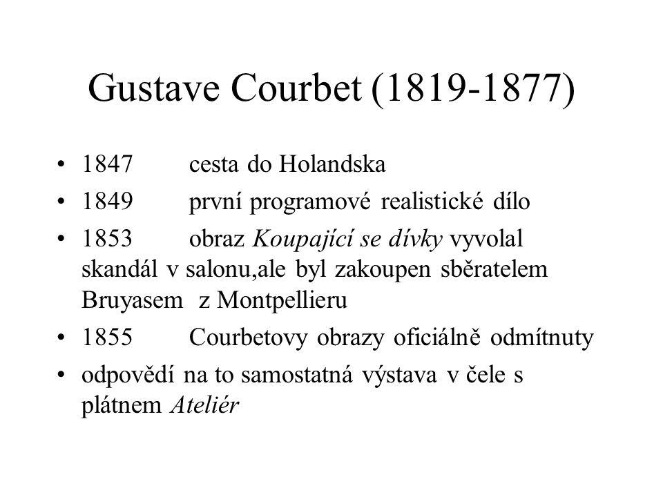 Gustave Courbet (1819-1877) 1847 cesta do Holandska