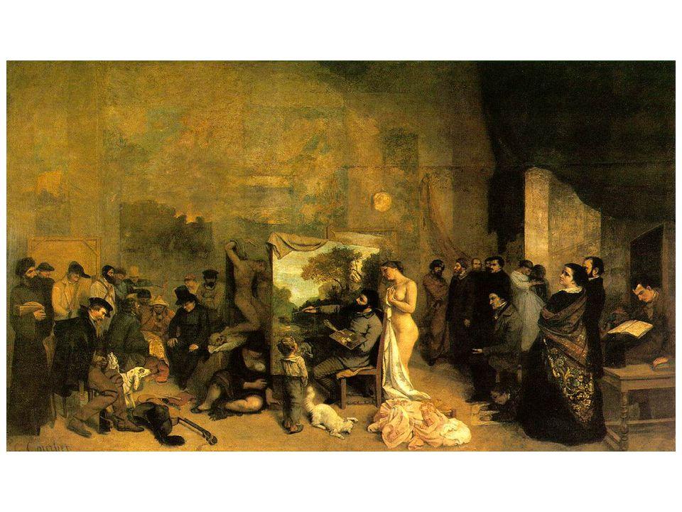 Gustave Courbet: Ateliér, podtitul obrazu zněl: Reálná alegorie popisující sedm let mého uměleckého života