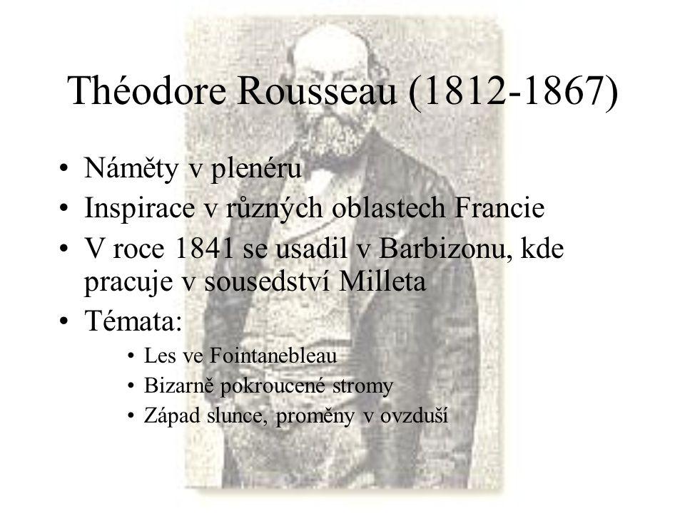 Théodore Rousseau (1812-1867) Náměty v plenéru