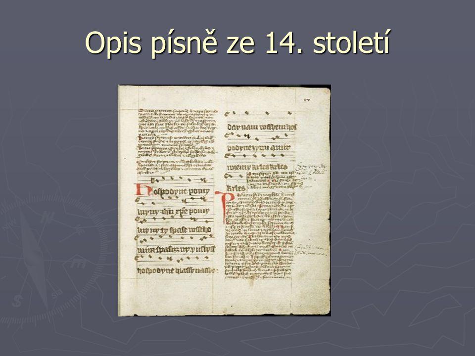 Opis písně ze 14. století