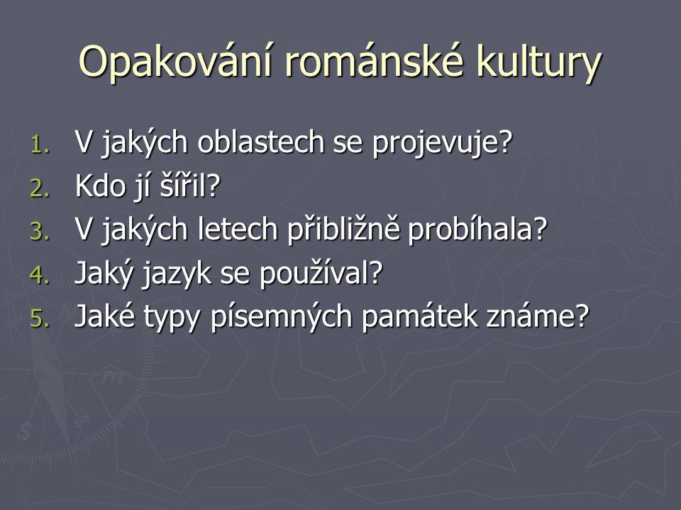 Opakování románské kultury