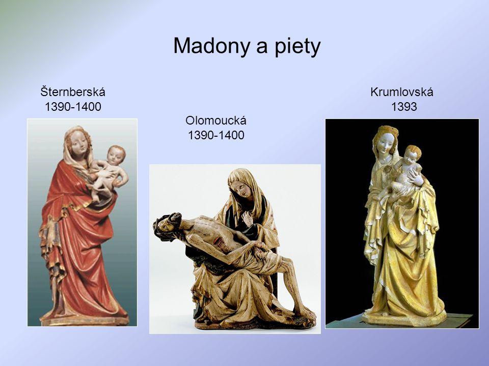 Madony a piety Šternberská 1390-1400 Krumlovská 1393