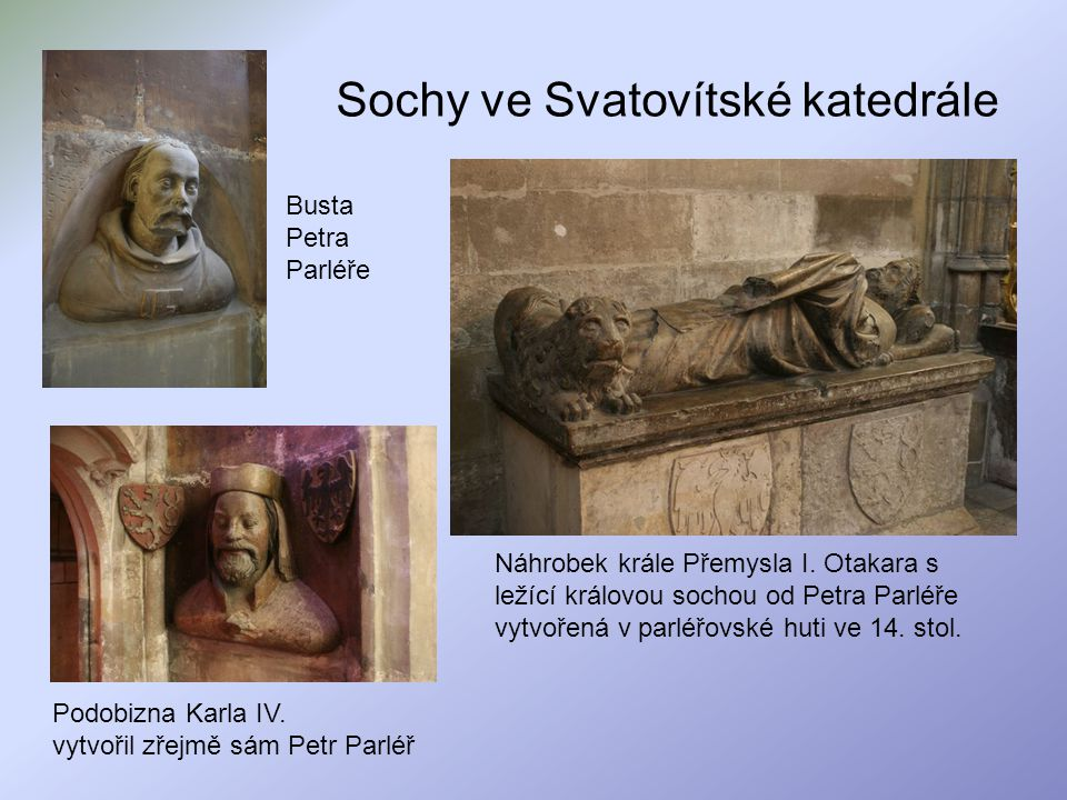 Sochy ve Svatovítské katedrále
