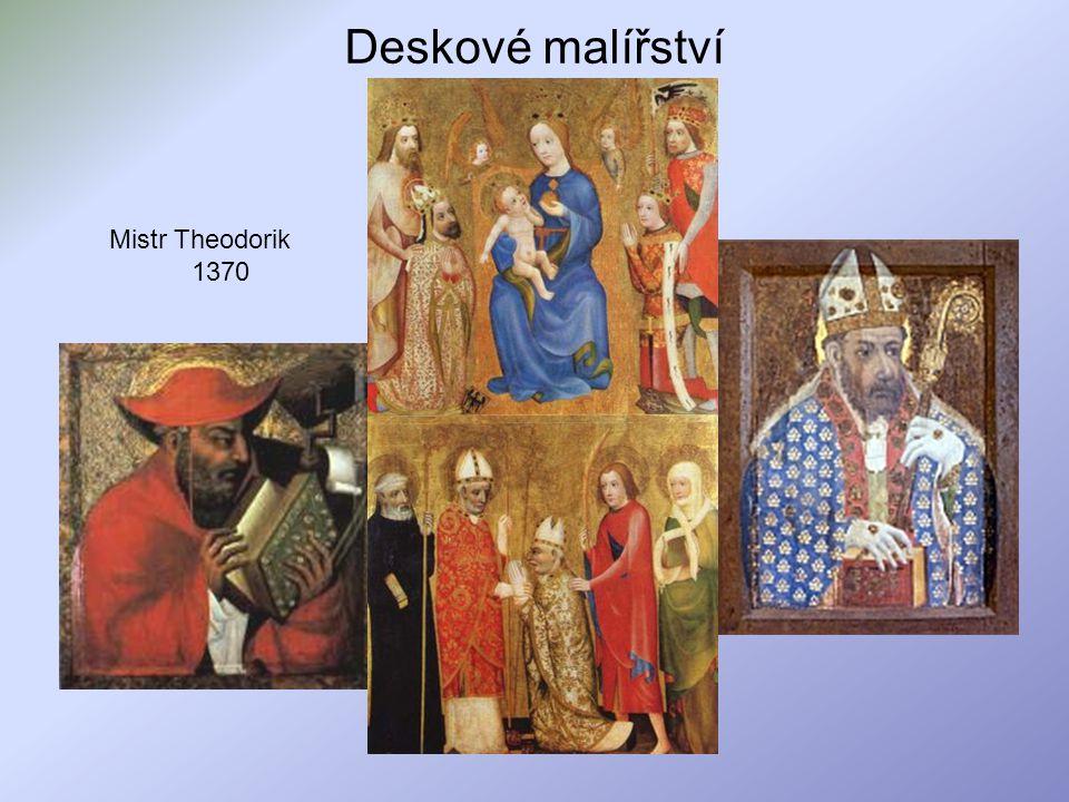 Deskové malířství Mistr Theodorik 1370