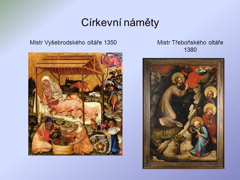 Církevní náměty Mistr Vyšebrodského oltáře 1350