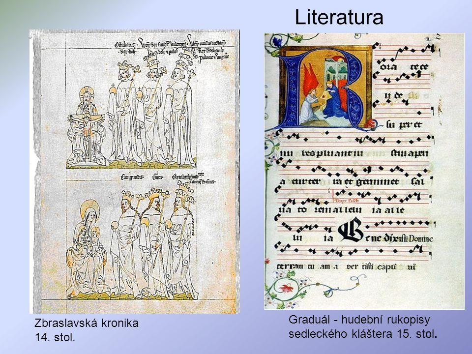 Literatura Graduál - hudební rukopisy sedleckého kláštera 15. stol.