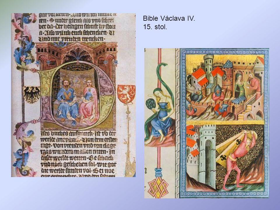 Bible Václava IV. 15. stol.