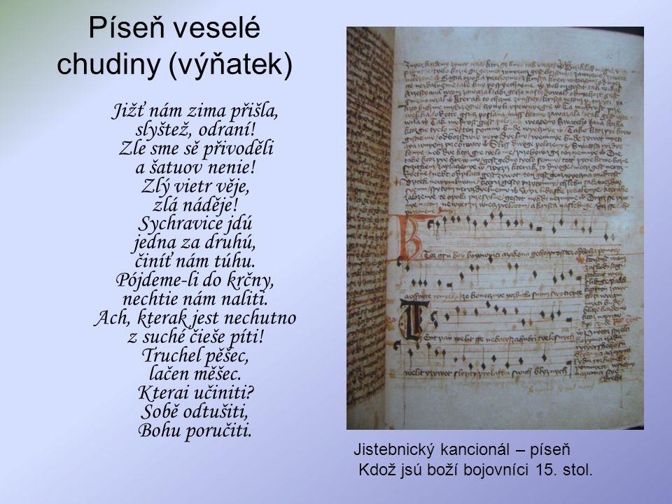Píseň veselé chudiny (výňatek)