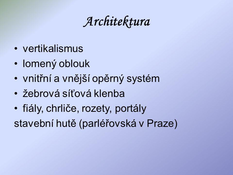 Architektura vertikalismus lomený oblouk