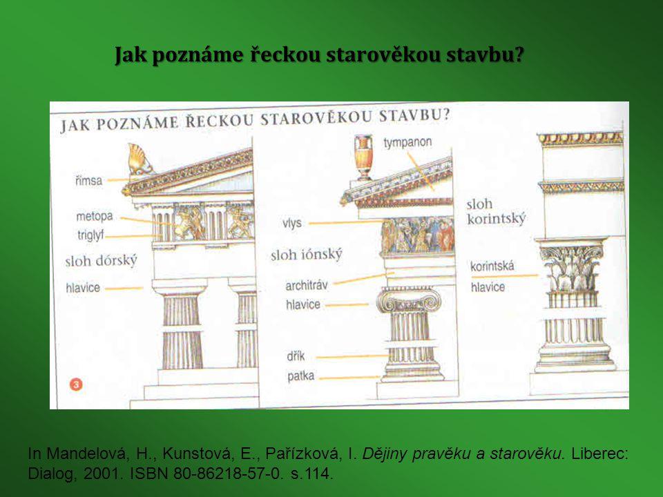 Jak poznáme řeckou starověkou stavbu