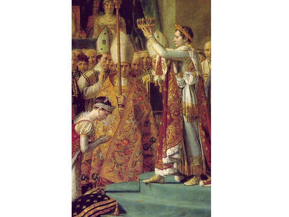 V tomto detailu Napoleon korunuje svou ženu Josefínu.