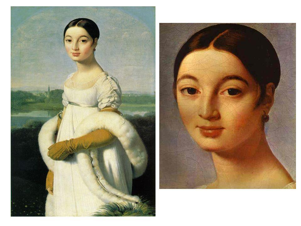 Slečna Riviérová (1806) Její rodinu Ingres maloval, vystaveno na Salónu 1806 a budilo údiv. Philibert Riviére – státní poradce císařství.