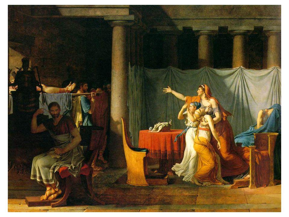 Liktoři přinášejí Brutovi mrtvoly jeho synů (1789)