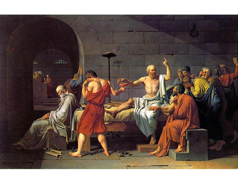Smrt Socratova Prezentováno na Salónu v roce 1787.